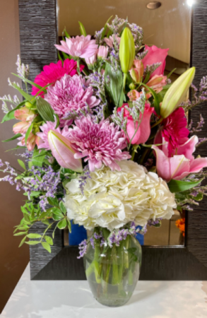 Beautiful In Pinks  Vase