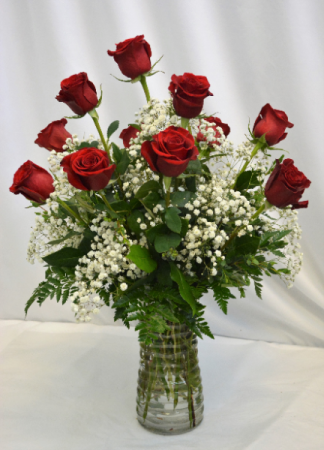 BEAUTIFUL IN RED DOZEN RED ROSES