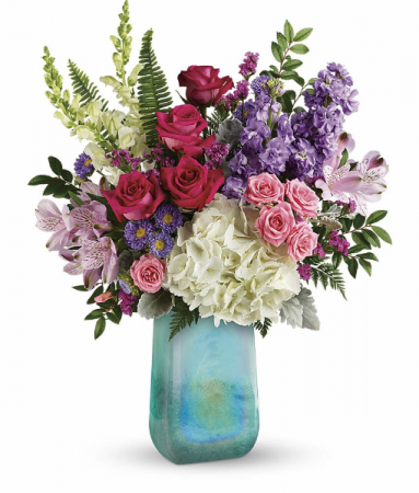 Beautiful Iridescent Beauty Vased Arrangements