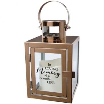 """Beautiful Life"" Copper LED Lantern"