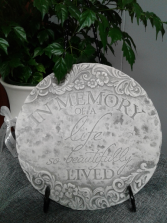 Beautiful Life Plaque with Stand  Memorial Plaque