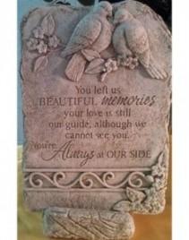 """Beautiful Memories 16"""" x 10"""" Memorial Stone"""