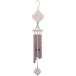 """Beautiful Memories 35"""" Vintage White Wind Chime Wind Chime"""