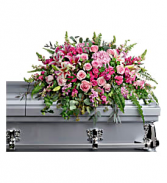 Beautiful memories casket spray Funeral