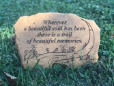 Beautiful Memories  Sympathy Keepsake