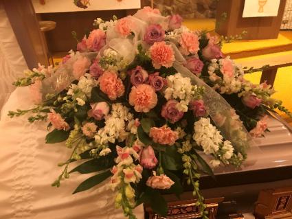 Beautiful Mother  Casket Flowers