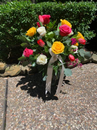 Beautiful Mother! Mixed Roses and Tulips