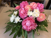 Beautiful peonies  Vased peonies