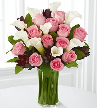 Beautiful Red Rose & Calla  Everyday