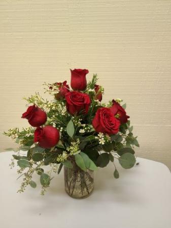 Beautiful Red Roses Vase