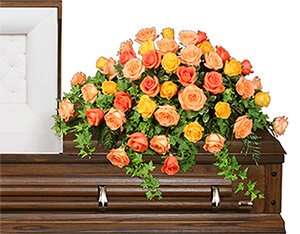 BEAUTIFUL ROSE BENEDICTION Funeral Flowers in Huxley, IA | CHICKEN SHED PRIMITIVES