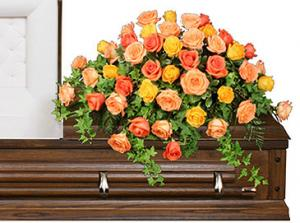 BEAUTIFUL ROSE BENEDICTION Funeral Flowers in North Richland Hills, TX | 3D FLORAL DESIGN