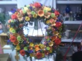 Beautiful Round Wreath with a mixture of colors.