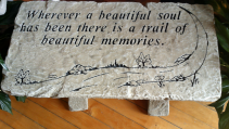 Beautiful Soul  Sympathy Bench