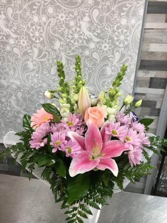 Pretty Pastel Bouquet - No Vase  Mixed Bouquet