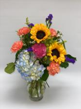 Beautiful Springtime Garden Bouquet