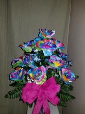 Beautiful Sweetheart  Dozen Rainbow Rose's