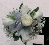 Beautiful White Spray Rose Corsage Corsage