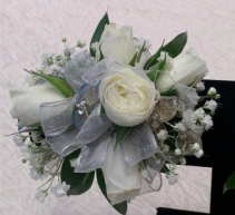 Beautiful White Spray Rose Corsage Corsage