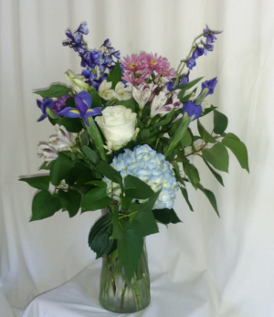 Beautifully Blue Vase in Norway, ME | Green Gardens Florist & Gift Shop