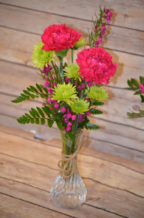 Beautifully Bright Mini Bud Vase In Manchester Ia Sarahs Flowers