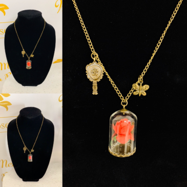 Beauty and The Beast Necklace Rose Necklace B&B