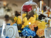 beauty and the beast theme centerpiece