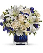 Beauty in a Cube Vase Arrangement