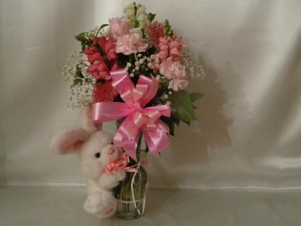 Baby Girl Bunny vase