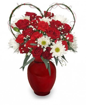 Because i love you flower arrangement in holbrook ma white because i love you flower arrangement mightylinksfo