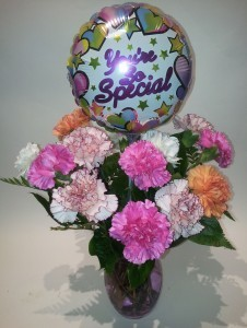 Because You Are Special Carnation vase arrangement
