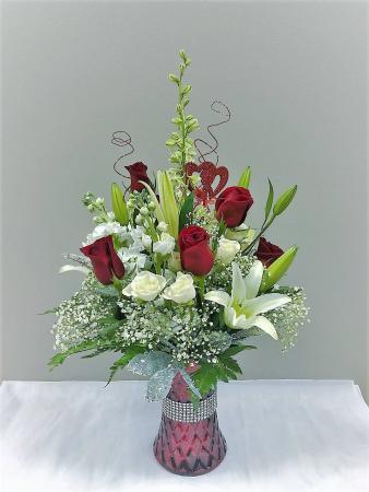Bedazzled Valentine's Day Vase