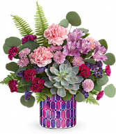 Bedazzling Beauty Bouquet Teleflora's mosaic cylinder