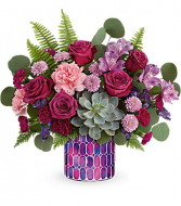 Bedazzling Rose Beauty Bouquet Teleflora's Mosaic Glass