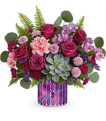 Bedazzling Rose Beauty Bouquet Teleflora's Mosaic Glass