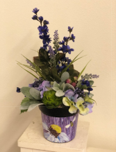 Bee happy purple  Silk Arrangement