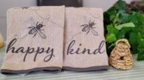 Bee Happy Tea Towels Gift Item
