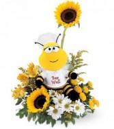 Bee Well Bouquet mixed arrangement