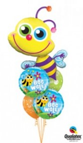 Bee-ming Bee Well balloons