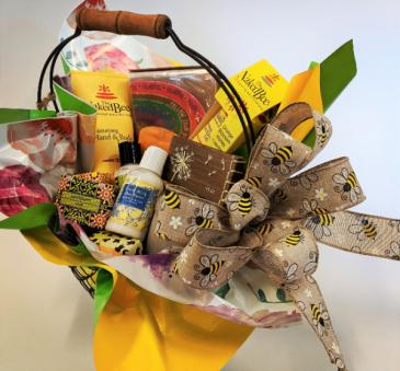 Bee Pampered Basket Gift Basket