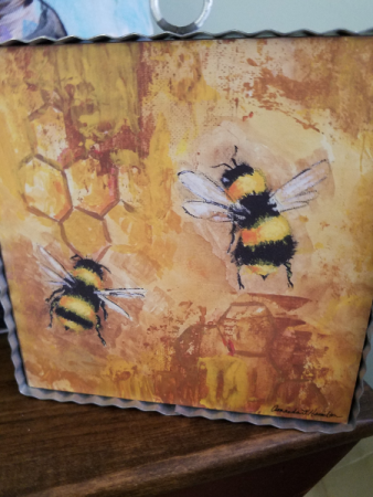 Bee Print Home Decor