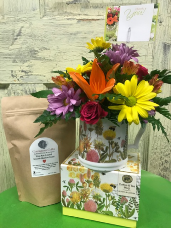 Bee Thankful & Grateful  Coffee/Coffee Mug/Flowers