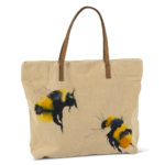Bee Tote cotton and leather