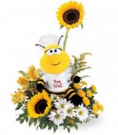 Bee Well Arrangement Get Well Flowers in Hampton Falls, New Hampshire | FLOWERS BY MARIANNE