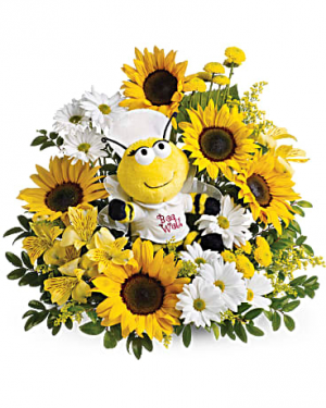 Bee Well Bee Arrangement in Warrington, PA | ANGEL ROSE FLORIST INC.