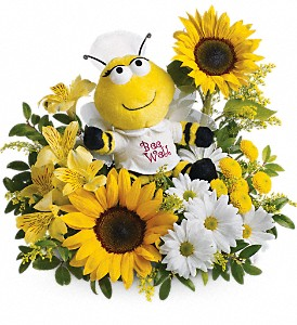 Bee Well Bouquet (Plush Bee included)