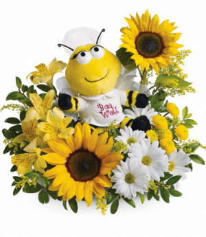 Bee Well Bouquet One-Sided Floral Arrangement in Winnipeg, MB | KINGS FLORIST LTD