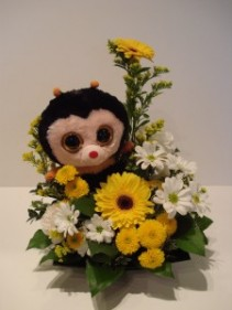 Bee Well Plush toy arrangement