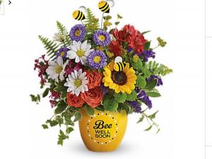 BEE WELL SOON Fresh flowers in ceramic keepsake in Fairfield, OH | NOVACK-SCHAFER FLORIST