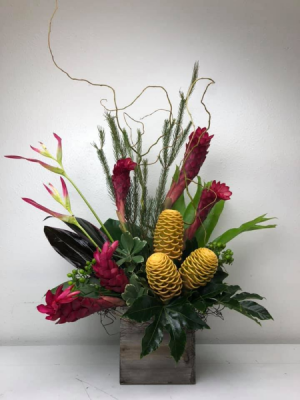 Beehive and Ginger  Vase Arrangement in North Bend, OR | PETAL TO THE METAL FLOWERS
